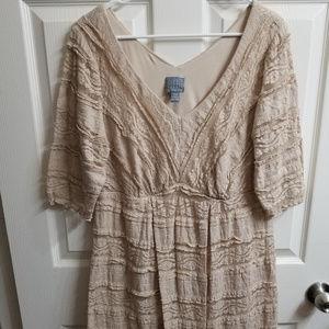 Rabbit Rabbit Rabbit Womens Lace Midi Dress
